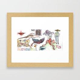 Les animaux Framed Art Print