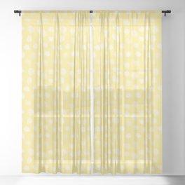 Yellow Dalmatian Print Sheer Curtain