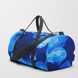 Blue Jellyfish Duffle Bag