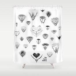 Vulva Variations Shower Curtain
