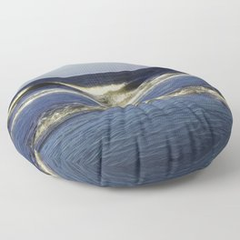 Ocean Waves with Digital Modification Floor Pillow