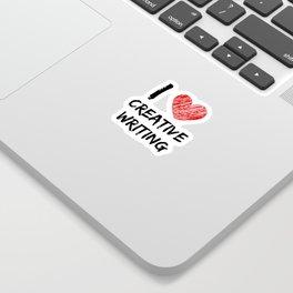 I Love Creative Writing Sticker