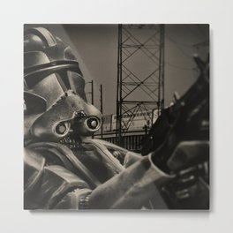 Angry Guy In Mask Metal Print
