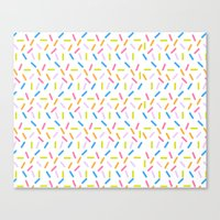 sprinkles Canvas Prints featuring Sprinkles by Vera Mota