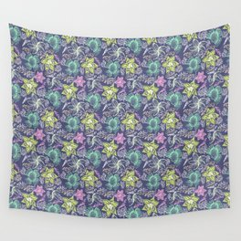 Chalk Floral Wall Tapestry