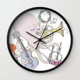 Music Octopi  Wall Clock