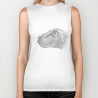 trex Biker Tanks featuring TRex by KC Gillies