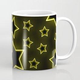 Bright neon stars on black background Coffee Mug
