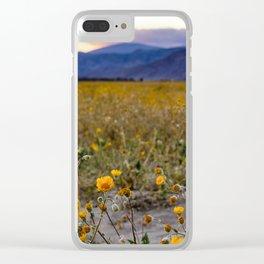 Anza Borrego Sunflowers Clear iPhone Case