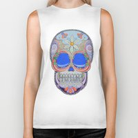calavera Biker Tanks featuring Calavera by Jared Bretholtz