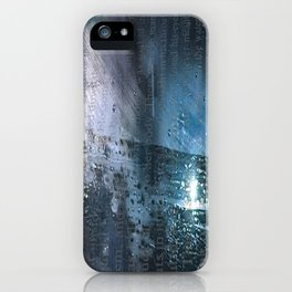 Taking the Evening Train Through Winter Words iPhone Case