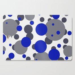 Bubbles blue grey- white design Cutting Board
