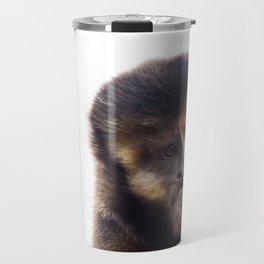 Thinking Capuchin Monkey Travel Mug