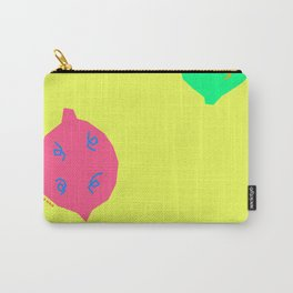 Words from Colorful Lemons - fruit illustration food Carry-All Pouch