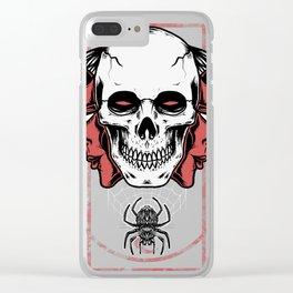 Devil skull Clear iPhone Case