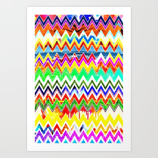 Waves of Colour Art Print