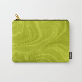 Chartreuse Swirl Marble Carry-All Pouch