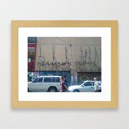 urban art in sao paulo, brazil Framed Art Print