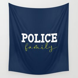 Police Family Wall Tapestry