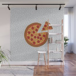 Pizza lover dot by dot Wall Mural