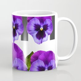 WHITE LILAC & PURPLE PANSY FLOWERS ART Coffee Mug