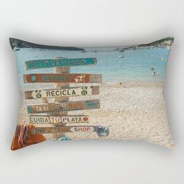 Holiday vibe- Summer in Mallorca- Beach days Rectangular Pillow
