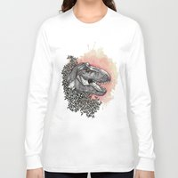 dinosaur Long Sleeve T-shirts featuring Dinosaur by Gemma Goode