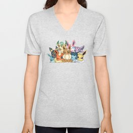 KAWAII EEVEELUTIONS Unisex V-Neck