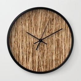 Thousands of reeds Wall Clock