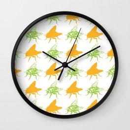 Pretty Flies Pattern Wall Clock