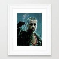tyler durden Framed Art Prints featuring Tyler Durden (mission: accomplished) by lensebender