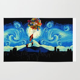 Starry Night Balloons Superhero Rug