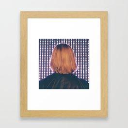 Illuminated Blondie Framed Art Print