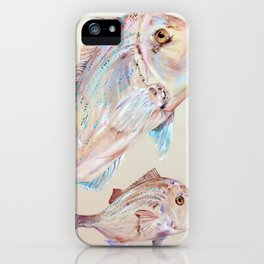 Pink Snapper Fish iPhone Case