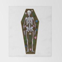 Skeleton Coffin Throw Blanket