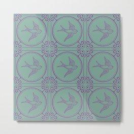 Lady Mary's Birds In Flight Metal Print