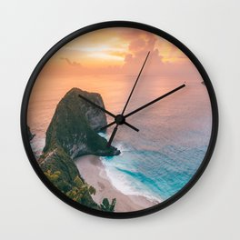 sunset over the sea Wall Clock