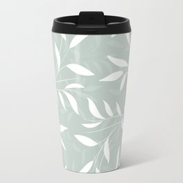 Soft Green Willow Branches Travel Mug