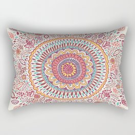 Sunflower Mandala Rectangular Pillow