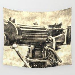 Vickers Machine Gun Vintage Wall Tapestry