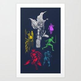 Thororama Art Print