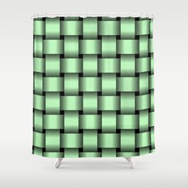 Large Light Green Weave Shower Curtain