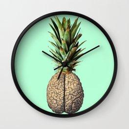 Pinebrain (pineapple) Wall Clock