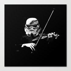 Dark Violinist Warrior Canvas Print