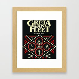 Greta Van Fleet tour 2018 Framed Art Print