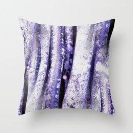 Purple Beech Throw Pillow