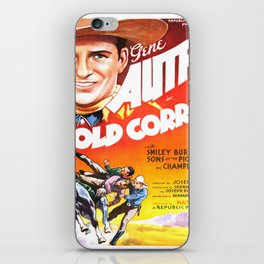 Vintage poster - The Old Corral iPhone Skin