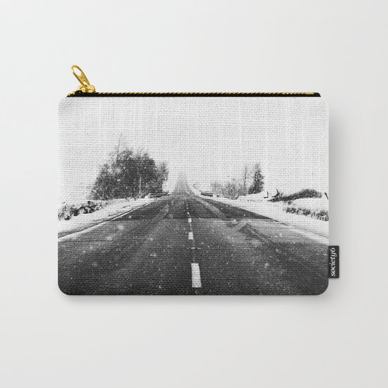 SNOW - WHITE - ROAD - WAY - TRIP - ADVENTURE Carry-All Pouch