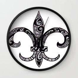 Fleur Di Lis  Wall Clock