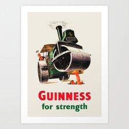 Guinness For Strength - Original vintage Guinness beer poster Art Print